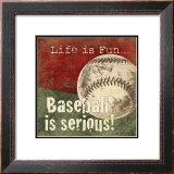 Baseball Prints by Jo Moulton