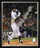 Evan Longoria Most Postseason Home Runs by a Rookie 2008 ALCS Game 4 Framed Photographic Print
