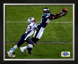 Terrell Owens - Super Bowl XXXIX - Catches A 10 Yard Pass Framed Photographic Print