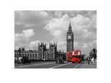 Red Buses by Big Ben Posters by Janet Gill