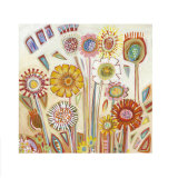 Sunny Flowers Prints by Shyama Ruffell