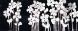 White Flowers on Black I Poster van Norman Wyatt Jr.