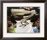 Evgeni Malkin Game 7 - 2008-09 NHL Stanley Cup Finals With Trophy Framed Photographic Print