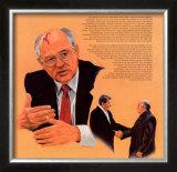 Nobel Peace Prize Winners, 1990 - Mikhail Gorbachev Poster