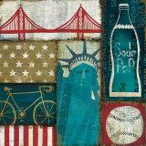 American Pop I Posters par Mo Mullan