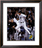 Derek Jeter celebrating after scoring winning run of 2004 ALDS game 2 ©Photofile Framed Photographic Print