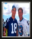 Peyton Manning And Dan Marino Framed Photographic Print