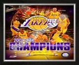 2008-09 Los Angeles Lakers NBA Finals Champions Framed Photographic Print