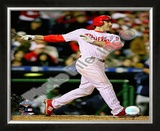 Chase Utley Game 3 of the 2008 MLB World Series Framed Photographic Print