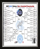 2009 NCAA Final Four Champions Bracket Framed Photographic Print