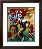 Joe Montana - Legends of the Game Composite - ©Photofile Framed Photographic Print