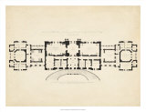 Antique Building Plan III Giclee Print