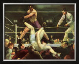Dempsey and Firpo Posters by George Wesley Bellows