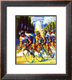 Victory on the Champs-Elysees Print by Malcolm Farley