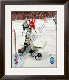 Marc-Andre Fleury in Game 5 of the 2008 NHL Stanley Cup Finals; Action 17 Framed Photographic Print