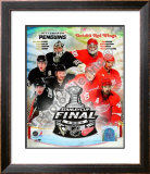 '09 St. Cup Match Up - Pens / Red Wings Framed Photographic Print