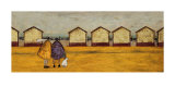 Looking Through the Gap in the Beach Huts Print by Sam Toft