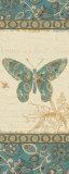 Natures Pattern II in Blue Posters by Alain Pelletier