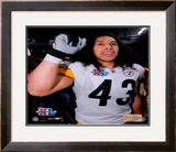 Super Bowl XL - Troy Polamalu Celebratation Framed Photographic Print