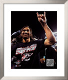 Johnny Damon celebrating, Game 7 win &#169;Photofile Framed Photographic Print