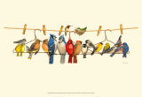 Bird Menagerie II Posters by Wendy Russell