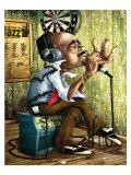 Bluesman Harmonica Reprodukcje autor Adam Perez