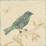 Natures Pattern I in Blue Posters por  Pela