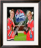 Jonathan Toews & Patrick Kane 2009 NHL Winter Classic Promotion Framed Photographic Print