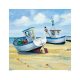 Fishing Boats Print by Jane Hewlett