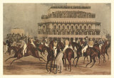 The Grand Steeple Chase I Print by Francis Calcraft Turner
