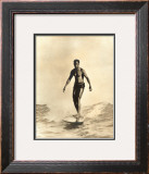 Duke Surfing Framed Giclee Print