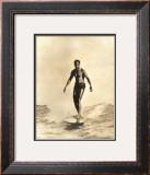 Duke Surfing Framed Giclee Print