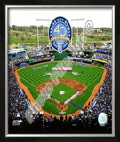 Kauffman Stadium - 2009 With 40th Anniversary Framed Photographic Print