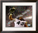 Troy Polamalu celebrates - Super Bowl XLIII Framed Photographic Print