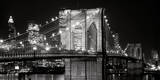 Brooklyn Bridge at Night Art by Jet Lowe