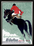 Horse Jumper Show Framed Giclee Print