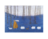 Tiptoe Through the Bluebells Print by Sam Toft