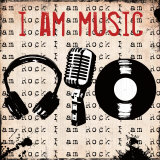I Am Music Poster by Louise Carey