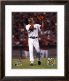Pedro Martinez after striking out Angel's Figgins, 7th inning of the 2004 ALDS, Game 2 ©Photofile Framed Photographic Print