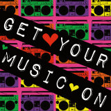 Get Your Music On Print by Louise Carey