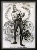 Jack Johnson Framed Giclee Print