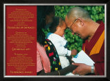 Dalai Lama: Never Give Up on Peace Posters
