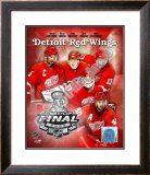 "'09 St. Cup - Red Wings ""Big 5 "" Framed Photographic Print"