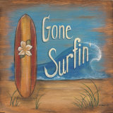 Gone Surfing Art by Kim Lewis