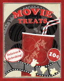 At the Movies II Prints by Veronique Charron