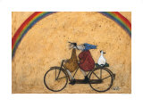Somewhere under a Rainbow Poster von Sam Toft