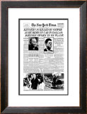 New York Times, November 23, 1963: Kennedy is Killed by Sniper Framed Giclee Print