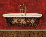 Royal Red Bath I Prints by Lisa Audit