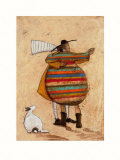 Dancing Cheek to Cheeky Print by Sam Toft