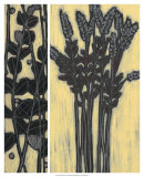 Woodcut Grasses I Art by Norman Wyatt Jr.